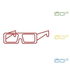 Glasses icon line art style vector