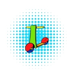 Push scooter icon comics style vector