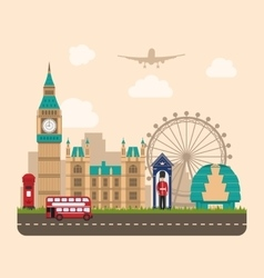Design poster for travel of england urban vector