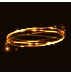 Gold circle light tracing effect vector