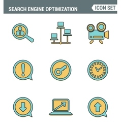 Icons line set premium quality of search engine vector