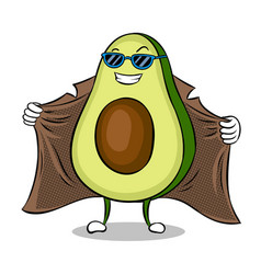 Avocado exhibitionist in raincoat pop art vector
