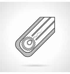 Black line icon for fertilization vector