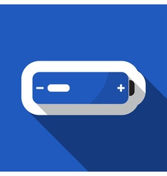 Blue information icon - battery low vector