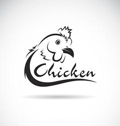 Design chicken is text vector