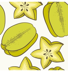 Fruit seamless pattern with green caram vector image
