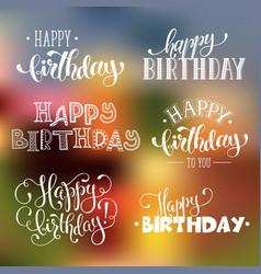 Happy birthday phrases vector