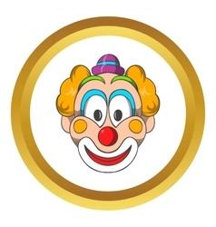 Head of clown icon cartoon style vector