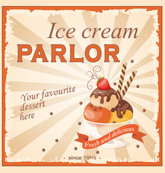 Ice cream parlor vector