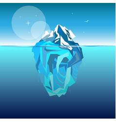 Iceberg in ocean water vector