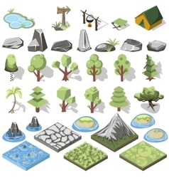 Isometric 3d element vector image