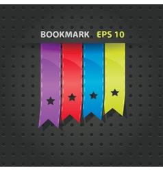 Labels textured editable bookmark set vector image