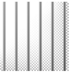 Metal prison bars isolated on transparent vector