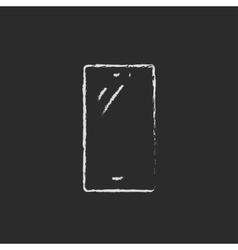 Mobile phone drawn in chalk vector