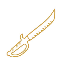 pirate dagger weapon vector image