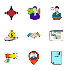 Reward icons set cartoon style vector