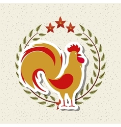 Rooster icon of chinese calendar vector