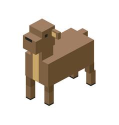 Sheep modular farm animal plastic lego toy blocks vector