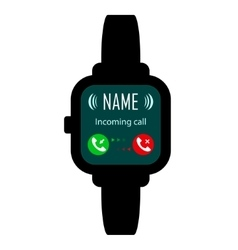 Smart watches call vector