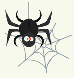 Spider silhouette arachnid fear graphic flat scary vector