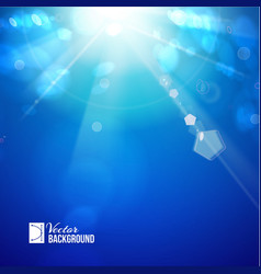 Sun shine rays with bokeh vector image