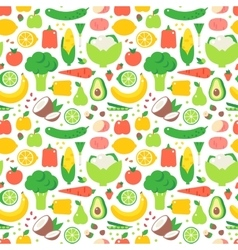 Vegetable seamless pattern garden background vector