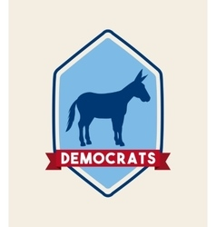Democrat political party animal vector