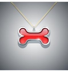 bone on chain jewellery vector image