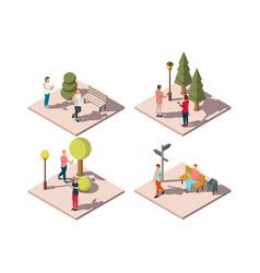 Gadgets urban park composition vector