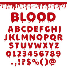 Bloody latin alphabet vector