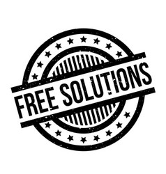 Free solutions rubber stamp vector