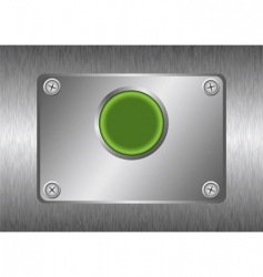Silver metal button vector