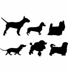 Silhouette of dogs vector