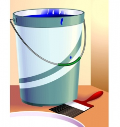 paint and container vector image