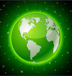 Green earth - america vector