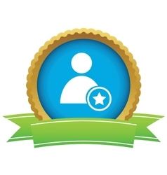 Favorite user certificate icon vector