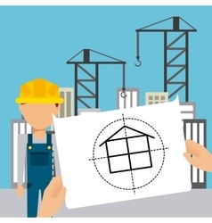 Under construction project vector