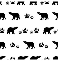 Black bears walking seamless pattern eps10 vector