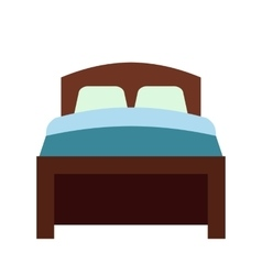 Bed flat icon vector