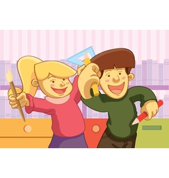 kids back to school vector image