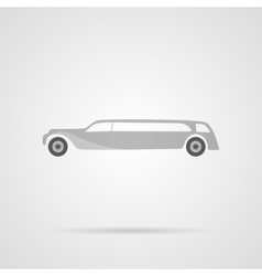 Gray car flat icon vector