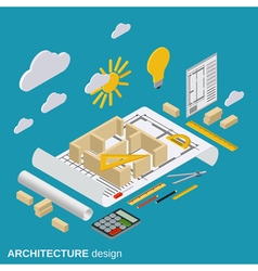 Architecture planning concept vector image