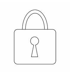 Padlock icon thin line style vector