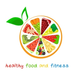 Healthy-food-and-fitness vector