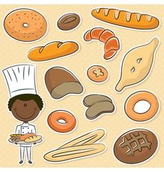 African-american baker vector