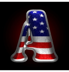 American metal figure a vector