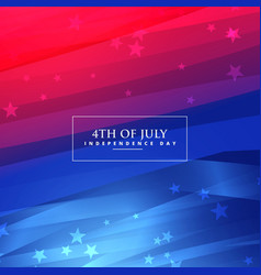 beautiful 4th of july background vector image vector image
