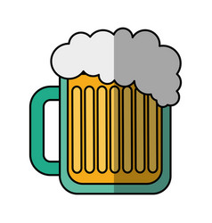 beer jar drink isolated icon vector image vector image