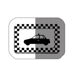 Border taxi side car icon vector