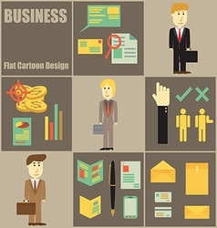 Business People Flat Cartoon vector image